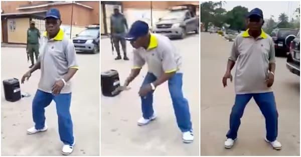 Former Nigerian President, Obasanjo Dancing To Keep Fit